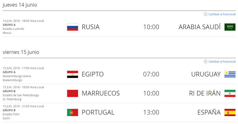 Estos Son Los Partidos De Octavos De Final Del Mundial
